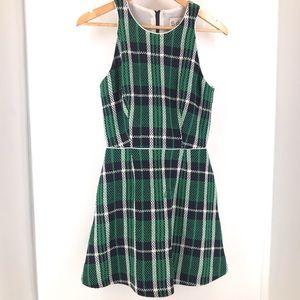 Sea New York Green and Blue Plaid Dress